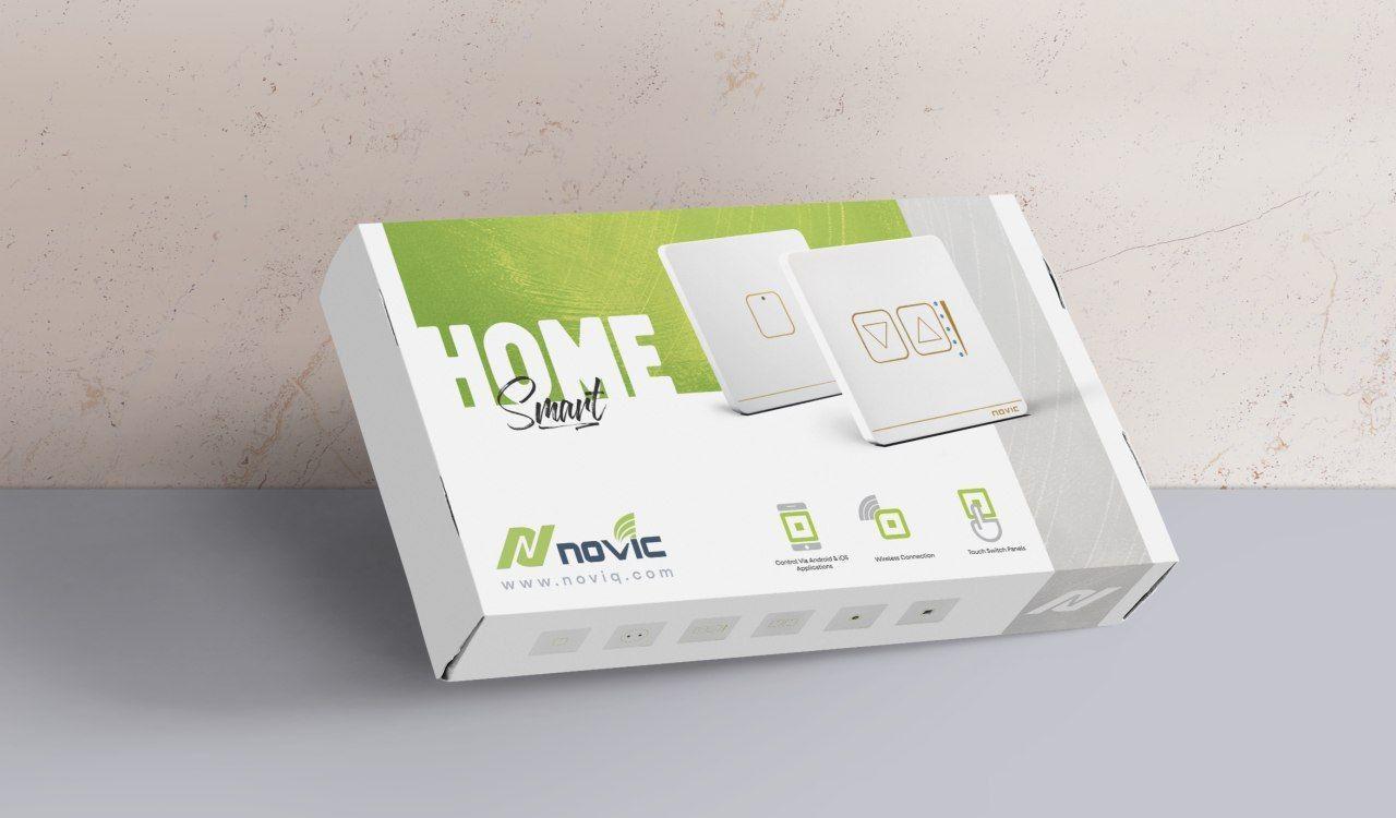 طراحی بسته بندی محصولات خانه هوشمند نویک