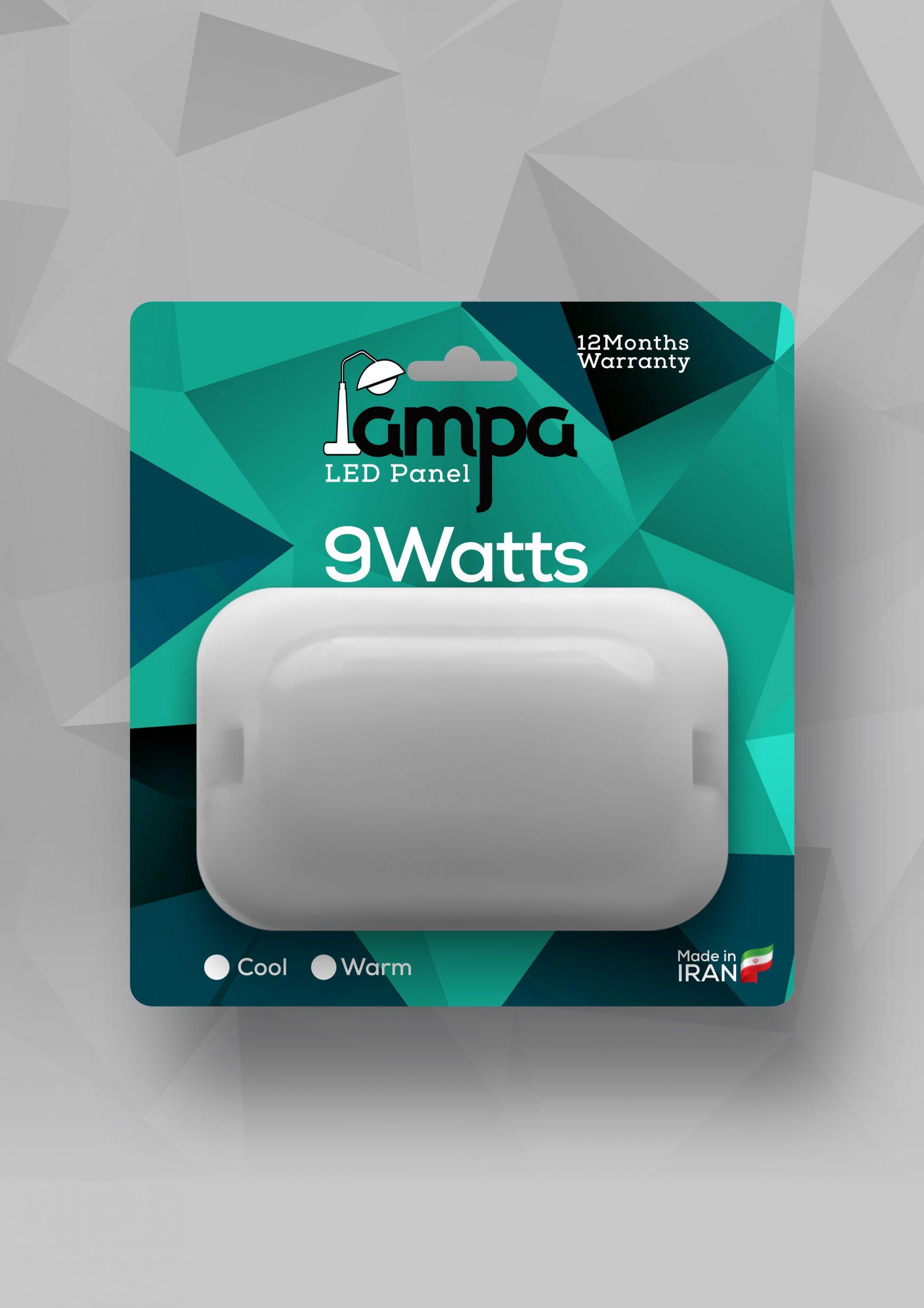 طراحی بسته بندی پنل ال ای دی لامپا